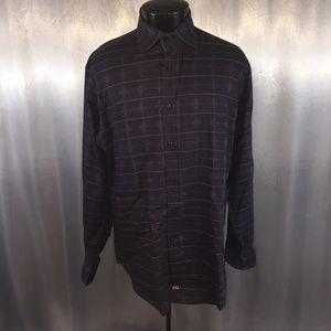 Thomas Dean mens printed dress shirt